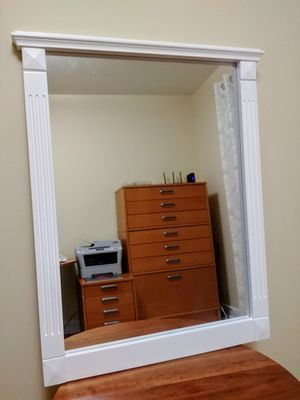 White wooden frame mirror, never used. 24 x 31in. for Sale in Warrenville, IL