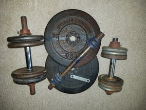 Total of 90lbs of Weights for Sale in Overgaard, AZ