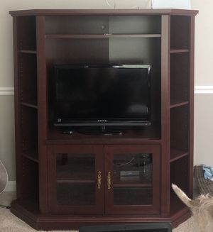 Cherry TV/Entertainment Stand for Sale in Kirkwood, MO