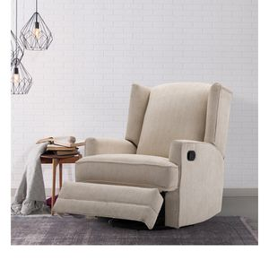 Serelda Beige Wingback Swivel Glider Recliner for Sale in Sterling, VA