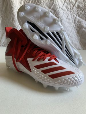 New Adidas DB0144Freak X Carbon Mid Football Cleats Size 10 1/2 White & Red for Sale in Haines City, FL