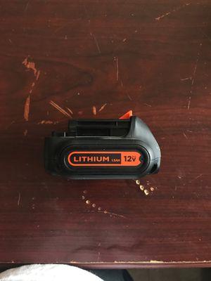 Black&Decker 12v battery for Sale in Loxahatchee, FL