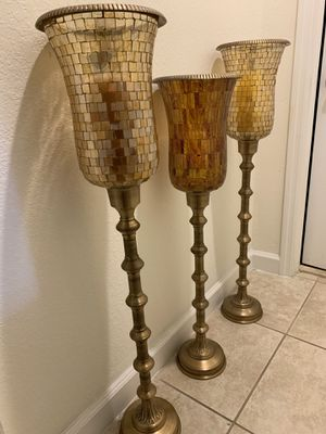 Candle holders- Mosaic glass for Sale in Miami, FL