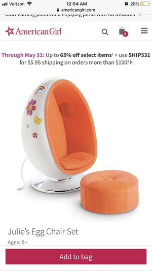 American girls doll chair real speaker and bike for Sale in Annandale, VA