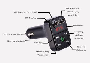 Wireless Bluetooth Car Kit Handsfree Talk MP3 player fm transmitter dual car charger for Sale in Virginia Beach, VA