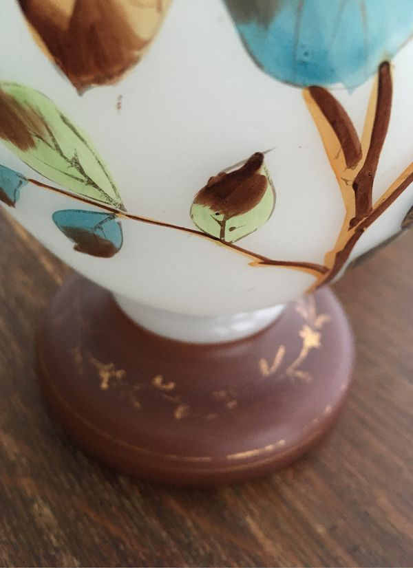 Large hand painted vase