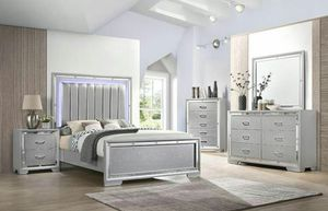 Brand new queen size bedroom set with led light $1099. for Sale in Miami Gardens, FL