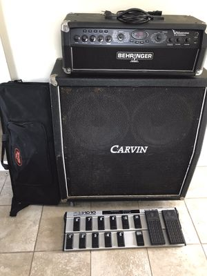 Behringer Guitar Amp with Midi Foot Controller and Carvin 4x12 for Sale in Everett, MA