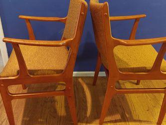 Pair Of Mid Century Teak Armchairs for Sale in Kirkland,  WA