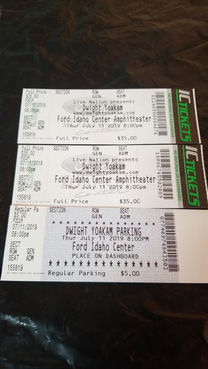 Dwight Yoakam and Ryan Bingham concert tickets for Sale in Hermiston, OR