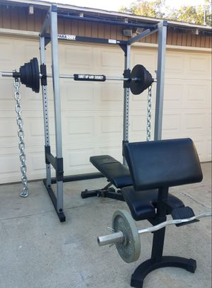Squat rack/ weights for Sale in Corona, CA