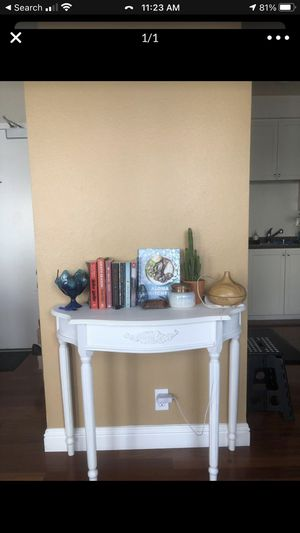 White Entry Table/ Console Table for Sale in San Francisco, CA