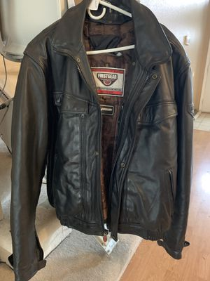 Leather Motorcycle Jacket - made by First Gear. Excellent condition!! for Sale in Lodi, CA