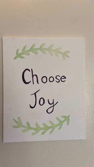 Choose Joy Canvas Wall Sign for Sale in West Richland, WA