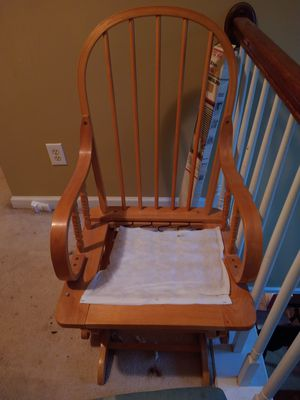 Wood Glider Rocker and Footstool for Sale in Stone Mountain, GA