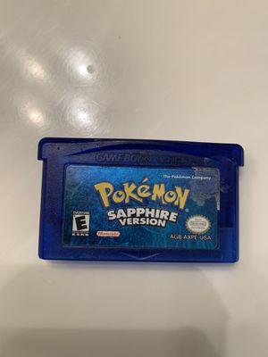 Gameboy/Nintendo Pokémon Sapphire for Sale in Pittsburg, CA