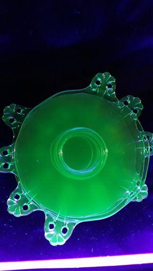 Antique Uranium Glass Salad/Desert plates for Sale in Vista, CA