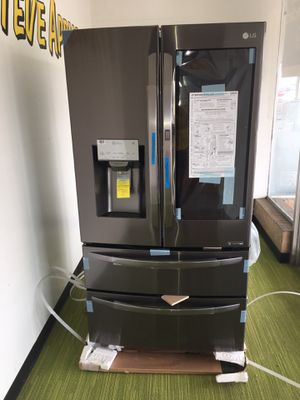 Brand New LG Black Stainless Steel 4 Door Refrigerator With Chosecase No Credit Needed Just $54 The Down payment Cash price $2,500 for Sale in Garland, TX