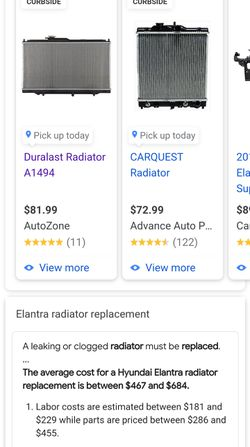 Hyundai Radiator for Sale in San Antonio,  TX