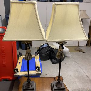 Pair of Candlestick Lamps for Sale in West Palm Beach, FL