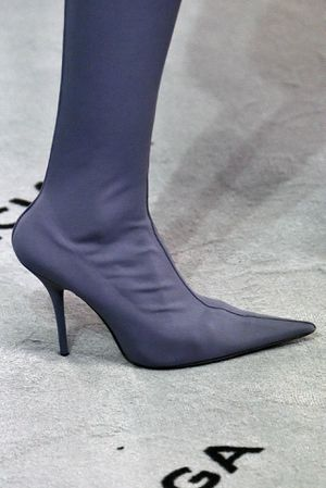 Balenciaga Knife Gray BB Spandex Stretch Over the Knee Boots Heels 37 for Sale in Fort Lauderdale, FL