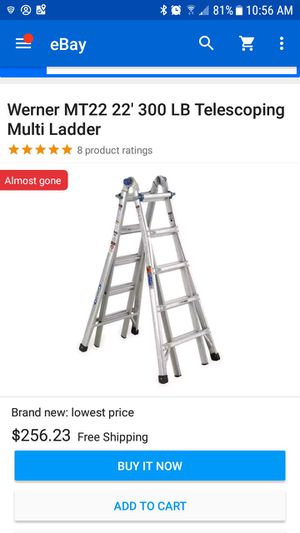 Werner Mt22 multi ladder for Sale in Manassas, VA