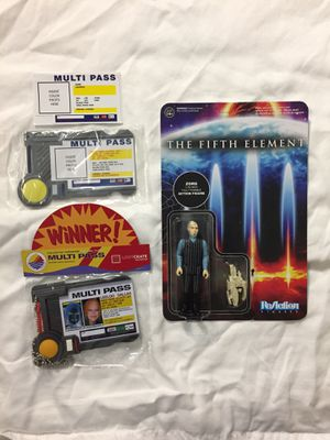 5th Element Multipass and Zorg action figure for Sale in San Diego, CA