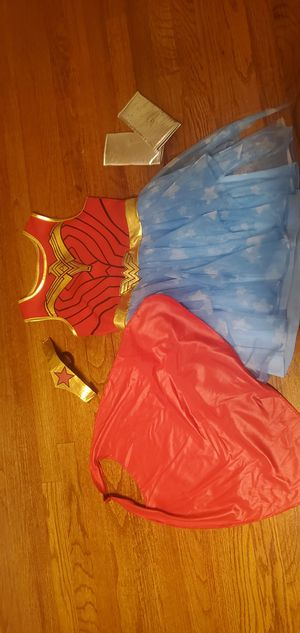 Wonder woman costume 8-10 size for girls for Sale in Greer, SC
