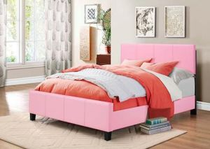Brand New Full Size Pink Leather Platform Bed Frame for Sale in Wheaton-Glenmont, MD