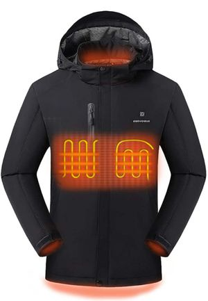 Men's Venustas Heated Ski Jacket Coat With Detachable Hood Water & Windproof 2XL for Sale in LAS VEGAS, NV