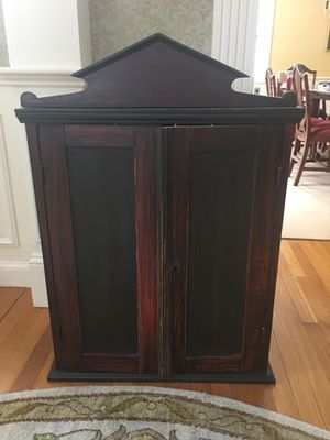 Antique Wood Cabinet for Sale in Wellesley, MA