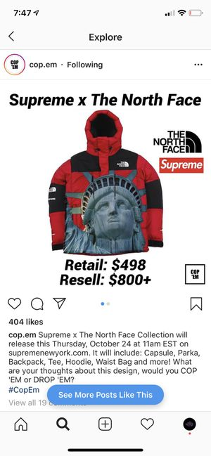 Supreme North Face Jacket PREORDER for Sale in Calimesa, CA