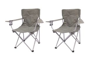 Ozark Trail Quad Folding Camp Chair 2 Pack Gray color A2-14 for Sale in St. Louis, MO