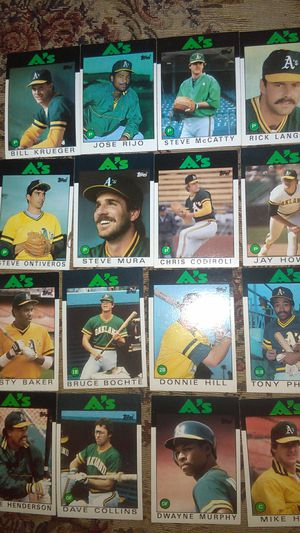 Oakland A's baseball card lot for Sale in Hayward, CA