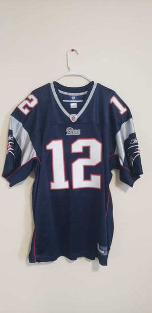 Tom Brady Jersey #12 hand stitched size 52 PERFECT CONDITION WORN ONCE for Sale in Taunton, MA