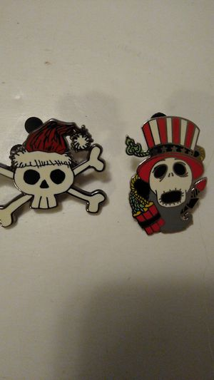 Disney Nightmare before Christmas 2008 and skeleton pins for Sale in Davenport, FL