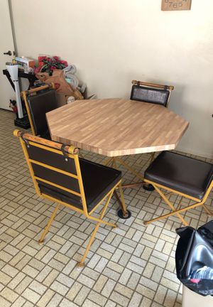 Kitchen table and matching chairs retro 70 style $150. Obo for Sale in Torrance, CA