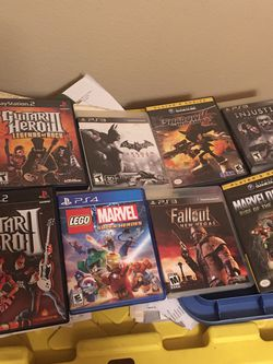 Lot Of Videos Games (2 )Pas2 (3) Ps3 (2) Game Cube (1) Ps4 for Sale in West Covina,  CA