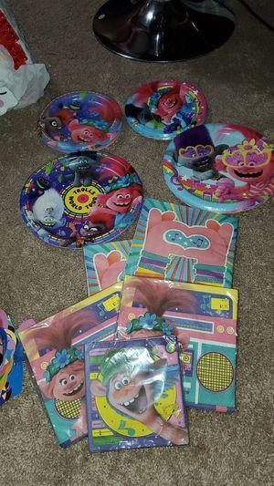 Trolls Birthday party Supplies for Sale in Hampton, VA