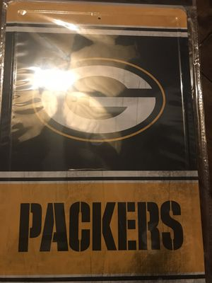 Packers tin sign for Sale in San Antonio, TX
