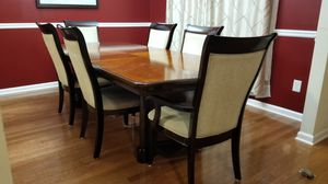 Full Black Walnut Dining Table with 6 Chairs for Sale in Dunwoody, GA