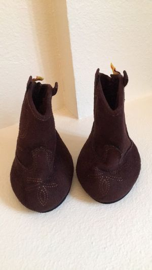 Build-A-Bear COWBOY BOOTS Teddy Size DARK BROWN WESTERN Retired Faux Suede Shoes for Sale in Belle Isle, FL