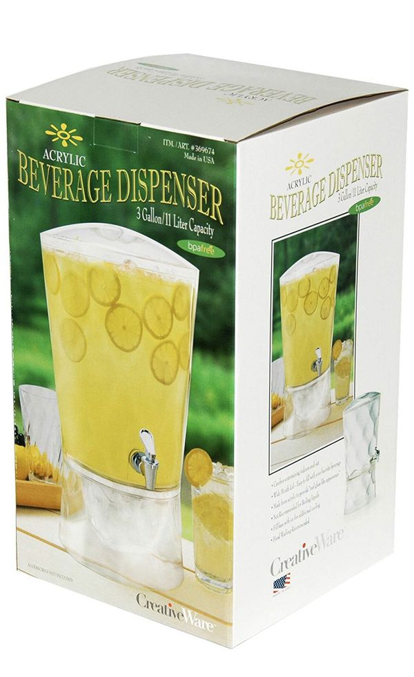 3 gallon beverage dispencer