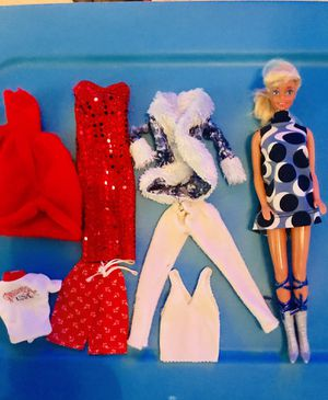 Vintage Barbie and clothes Red white & Blue for Sale in Garland, TX