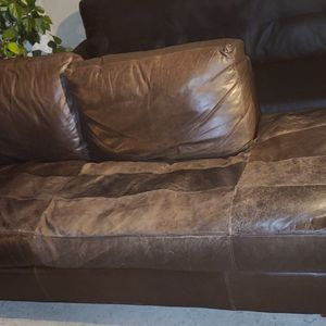 2 Free Couches. Black Is 6ft. Brown Is 8ft. Come Get Now! for Sale in Byron, CA