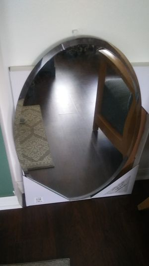 Glass mirror...Oval shape 36x24 for Sale in Clermont, FL