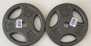 """New Pair of 10 lbs weight plates, standard 1"""" hole, discos de pesas de 10 libras for Sale in Miami, FL"""
