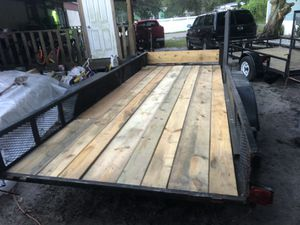 For sale this 7 × 16 Trailer has lights the tires are in good condition for Sale in Plant City, FL