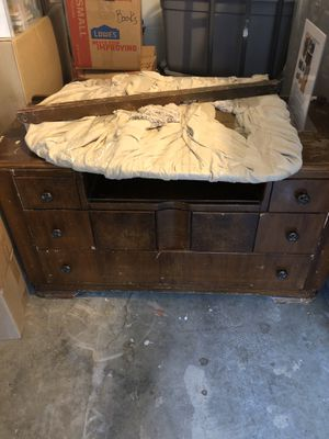 Antique dresser with beveled mirror for Sale in Steilacoom, WA