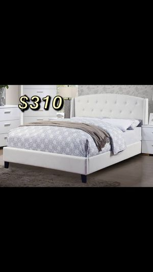 Queen bed frame and mattress included for Sale in Rancho Dominguez, CA